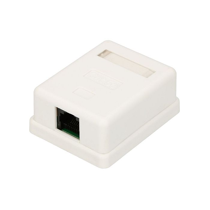 EXTRALINK 1XRJ45 CAT5E UTP WALL MOUNT OUTLET