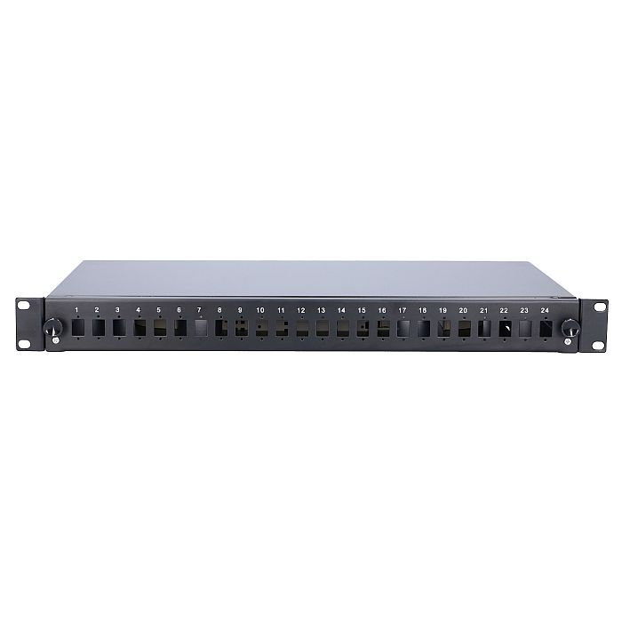 EXTRALINK 24 CORE FIBER OPTIC PATCH PANEL BLACK