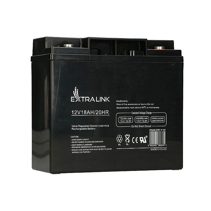 EXTRALINK AKUMULATOR BATTERY ACCUMULATOR 12V 18AH