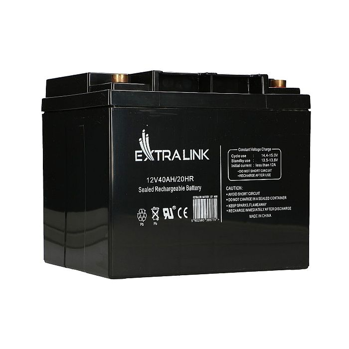 EXTRALINK AKUMULATOR BATTERY ACCUMULATOR 12V 40AH