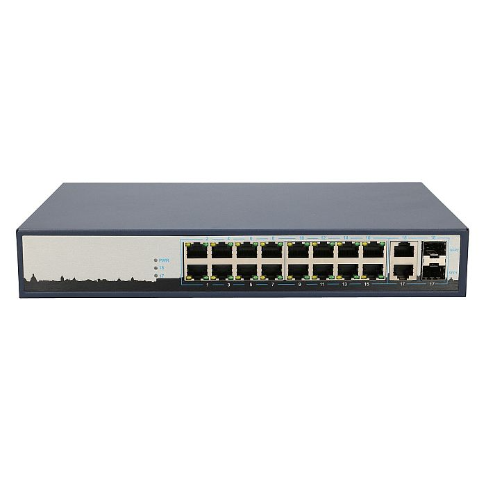 EXTRALINK VIRTUS 16 PORT 10-100MBPS POE SWITCH 802.3AF/AT 150W 15.4W PER PORT