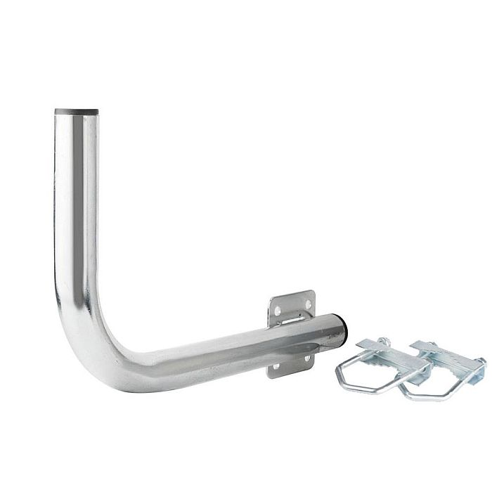 EXTRALINK B300 BALCONY HANDLE WITH U-BOLTS M8 MOUNTED FROM THE LEFT SIDE
