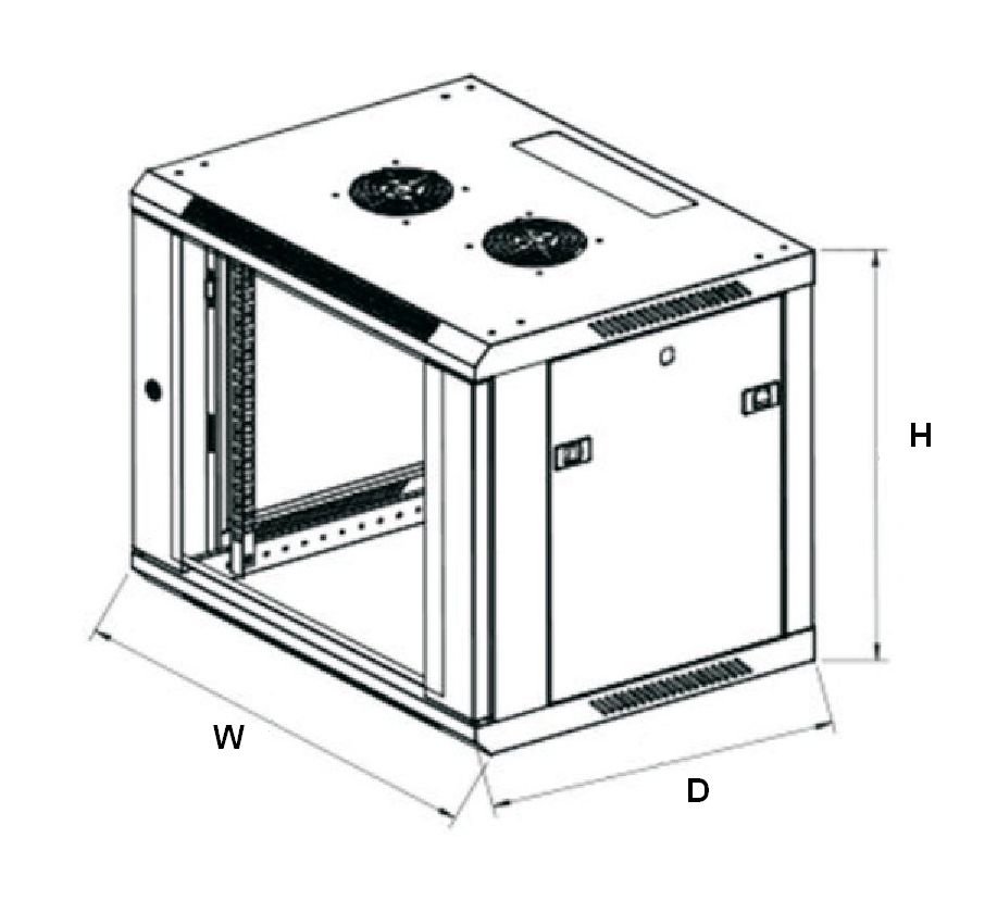 Extralink 12u cabinet dimensions